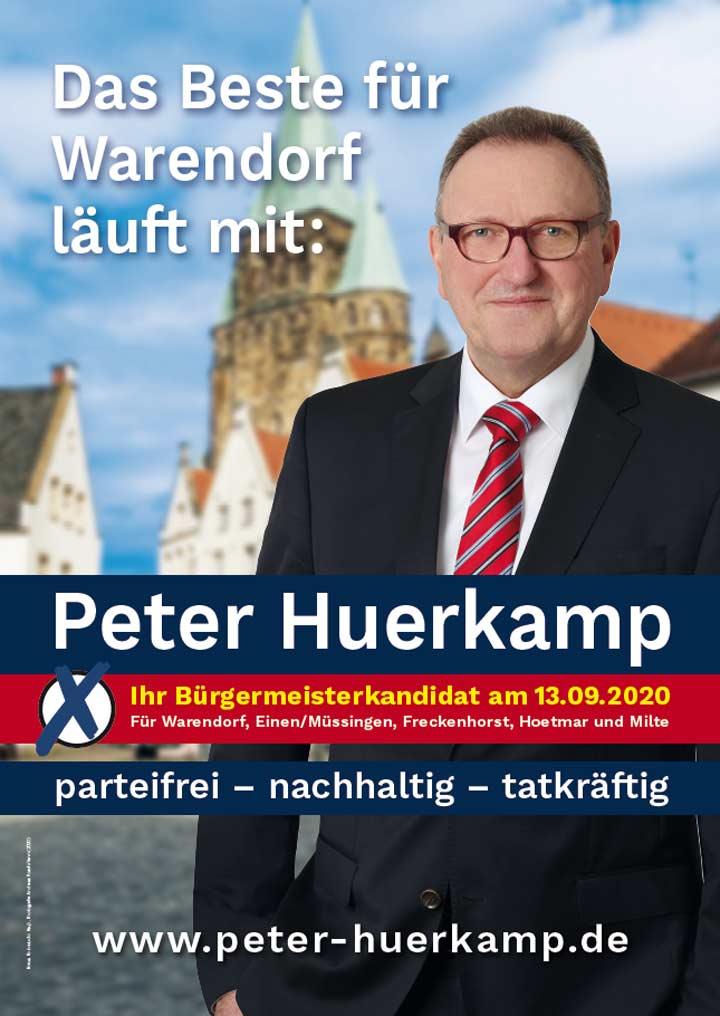 Kommunalwahl 2020 das Beste für Warendorf läuft mit Peter Huerkamp