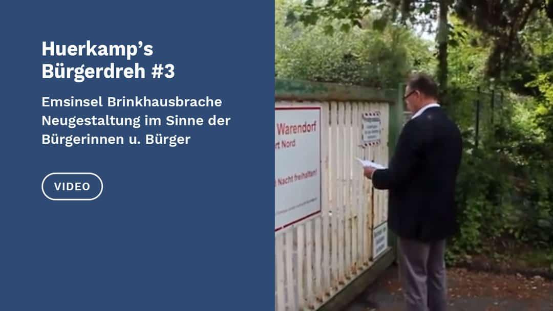 Video Bürgerfreundliche Lösungen für die Emsinsel Brinkhausbrache Warendorf