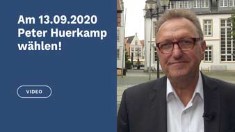 Video Peter Huerkamp am 13.09.2020 zum Bürgermeister wählen Kommunalwahl 2020 Warendorf
